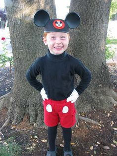 Homemade Mickey Mouse Costume  yellow buttons instead of white  paint nose black