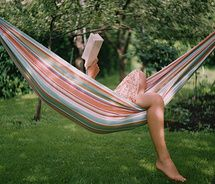 one of the best things about summer is reading in my hammock, it would also make reading textbooks more relaxing as well #summerschoolstyle