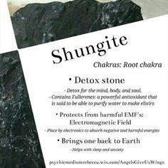 Shungite is a potent healing stone Crystal Uses, Crystal Healing Stones, Crystal Magic, Stones And Crystals, Ice Crystals, Gem Stones, Quartz Crystal, Minerals And Gemstones, Crystals Minerals