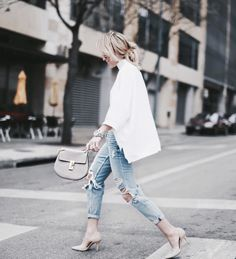 LOVE- just not cool enough to pull this off. Sweater is sold out at french connection and I don't own distressed boyfriend jeans