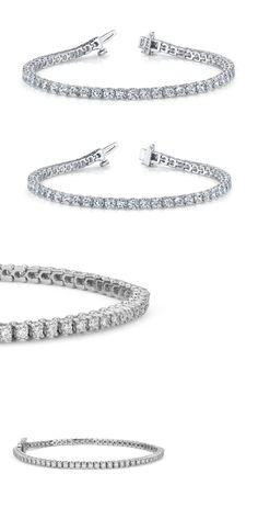 Diamond 10976: 3Ct. F Vs2 Natural Diamond Tennis Bracelet 14K White Gold Ladies Handmade 7 -> BUY IT NOW ONLY: $1799.99 on eBay!