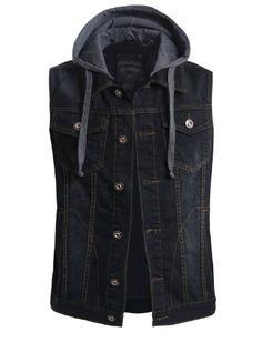 OLLIN1 Mens Casual Denim Vest Jacket with Detachable Hoodie OLLIN1 http://www.amazon.com/dp/B00OZAGW0I/ref=cm_sw_r_pi_dp_BtxCub1YDDYHK