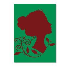 Women Art T Shirt Kelly Green Sticker Front