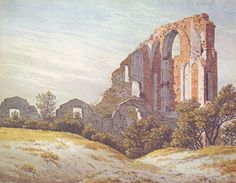 Caspar David Friedrich The Ruins of Eldena, , Private collection. Read more about the symbolism and interpretation of The Ruins of Eldena by Caspar David Friedrich. Franz Xaver Winterhalter, Caspar David Friedrich Paintings, Casper David, Celtic, World Famous Artists, Beauty In Art, Boat Art, Oil Painting Reproductions, Pictures To Paint