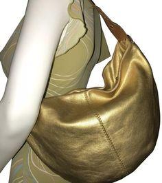 49ac18d4e8d1 Michael Kors Vintage Pebble Gold Leather Hobo Bag - Tradesy Michael Kors  Gold