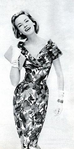 1959 - marcusa silk dress