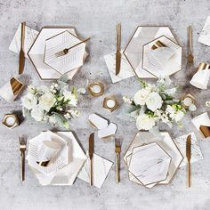 Disposable Wedding Party Paper Napkins - Marble with Gold - Shop on WeddingWire! Disposable Wedding Plates, Wedding Paper Plates, Gold Foil Paper, Wedding Table Settings, Table Decorations, Wedding Decorations, Wedding White, Fall Wedding, Wedding Reception