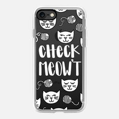 Casetify iPhone 7 Case and Other iPhone Covers - Check Meowt Kitty Cat for Black iPhone by Frost Design Co.   #Casetify