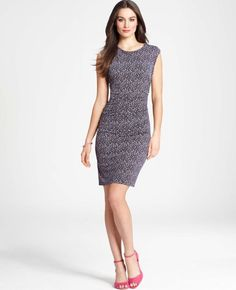 Ann Taylor - AT Petite New Arrivals - Petite Ditsy Print Side Ruched Dress