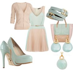 I love the color combination - could see me in this.  Untitled #9, created by ocosto on Polyvore