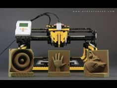 LEGO 3-D printer milling machine In this video, Arthur Sacek's LEGO milling machine prints a 3-D face from a block of foam. It proves that thethings that you can create with LEGO are truly limitless. Perhaps one day theultimate goal can be reached — creating an advanced LEGO milling machine thatproduces more LEGO bricks. Arthur Sacekvia Nerd Approved