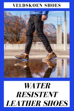 Let nothing stop you - not even the rain. Our leather Veldskoen® shoes is hydrophobic meaning you can splash around in as many puddles as you'd like! Even The Rain, Point Break, Clean Shoes, Leather Shoes, Surfing, Range, Boots, Leather Loafers, Shearling Boots