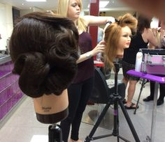 Hair up styling with all the team!  www.experienceeducation.academy