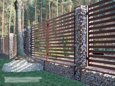 gabion fence posts için resim sonucu