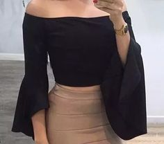 blusa campesinas limonni dama elegantes de mujer moda li410 Casual, Need Supply, High Waisted Skirt, Bell Sleeve Top, Mini Skirts, Cute Outfits, Glamour, Street Style, My Style