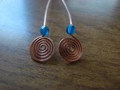 Spiral head pins / earrings -- Cozy Sister's Blog