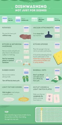 We all know that dishwashers clean dishes, but they can clean much more. The folks at Parts Select have a big graphic that lists what other things you can put in the dishwasher.