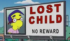 9GAG - Poor Milhouse