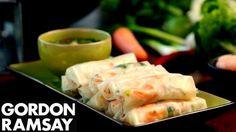 Fresh Prawn Rolls - Gordon Ramsay - YouTube