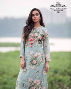 Cotton kurti designs - Image may contain 1 person, standing, text and outdoor Salwar Designs, Kurta Designs Women, Kurti Designs Party Wear, Neck Designs For Suits, Designs For Dresses, Dress Neck Designs, Blouse Designs, Churidhar Designs, Indian Designer Outfits