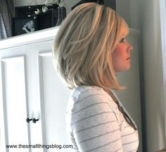 Shoulder length... pinning for the tons of hairs styles on her blog!