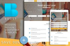 BOOST Bootstrap html template by Bootstraptor on Creative Market