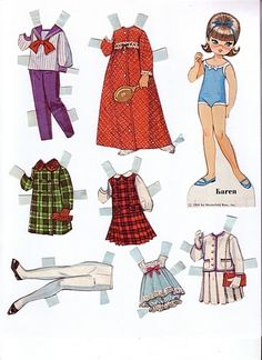 Dolly Darlings - Lorie Harding - Álbuns da web do Picasa Doll Clothes Patterns, Doll Patterns, Clothing Patterns, Purse Patterns, Paper Art, Paper Crafts, Paper Dolls Printable, Vintage Paper Dolls, Retro Toys