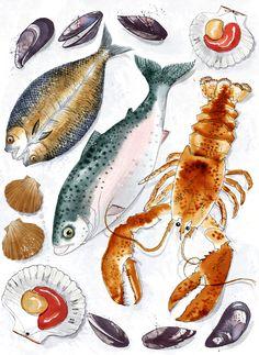 'Fishmonger's' Print