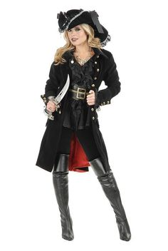 2013 New Deluxe Ladies Pirate Costume 5PCS Black Gothic Halloween Fancy Dress UP Party Outfit-in Costumes from Apparel & Accessories on Aliexpress.com | Alibaba Group