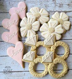 Blog OMG - I'm Engaged! - Doces para casamento. Wedding cookies.