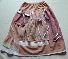Linen boho skirt Long skirt Coffee beige brown skirt Rustic