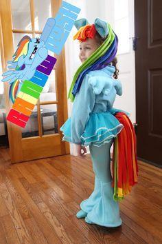 Grosgrain: DIY Rainbow Dash Costume