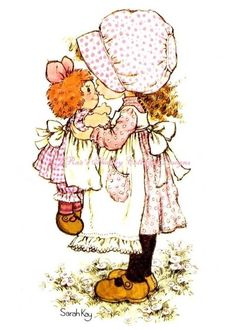 Sarah Kay Kristyl loved anything that resembled Holly Hobby. Sarah Key, Holly Hobbie, Decoupage, Ann Doll, Raggedy Ann And Andy, Australian Artists, Cute Little Girls, Illustrations, Vintage Pictures