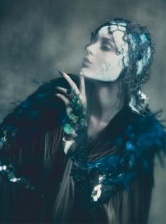 timeless-couture: Kristina Salinovic by Paolo Roversi for Vogue...