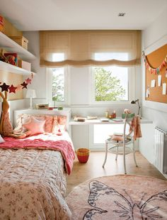 Teen Girl Bedrooms for sweet cozy room decor - A dazzling and spectacular variety of ideas. Post number 6642262428 created on this day 20191125 Small Room Bedroom, Room Colors, Bedroom Makeover, Bedroom Design, Colorful Kids Room, Girl Room, Home Decor, Small Bedroom, Room Design
