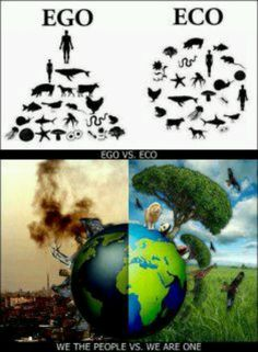 EGO means to rule over, but ECO means to be equal. Look down at the pictures, which one do you want it to be, EGO or ECO? Our Planet, Save The Planet, Planet Earth, Save Our Earth, Save Mother Earth, Earth Day, Global Warming, Climate Change, Mother Nature