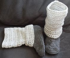 These crochet legwarmer boot style slippers are a result of a custom order that I recently made for a customer. I was sent a random ph...