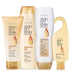 SKIN SO SOFT Signature Silk - boosts radiance and instantly illuminates skin. Now with Argan Oil. Scented with peony and soft musk. A $27 value. Regularly $12.99, buy Avon Bath & Body online at http://eseagren.avonrepresentative.com