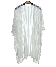 Another great find on #zulily! White Stripe Kimono by SUE & KRIS #zulilyfinds