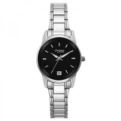 Pre-owned Bulova Caravelle 43M104 Black Dial Bracelet Womens Watch ($50) ❤ liked on Polyvore featuring jewelry, watches, water resistant watches, analog watches, black dial watches, caravelle by bulova watches and black face watches