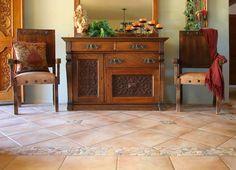 Hegle Tile: Entryways. Medallions, stone tile and artistic ceramic or porcelain tile.