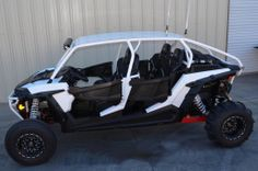 """All new Polaris RZR XP4 1000 Venom Series X4 Radius Roll Cage.  This bad boy comes 6"""" lower than stock and also covers your """"butt"""" with an integrated rear bumper.  Check out all the details at http://www.adrenaline-junkee.com/Venom-X4-Radius-Roll-Cage-RZR-XP4-1000-by-TMW-UTV-p/tmwvenomx4.htm"""