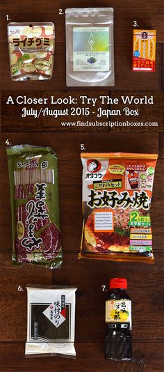 Taste the flavors and foods of Japan with the Try The World July/August 2015 Japan Box. Read our full Japan Try The World box review to see what was in our box! http://www.findsubscriptionboxes.com/a-closer-look/try-the-world-japan-box-review-072015/ #findsubscriptionboxes