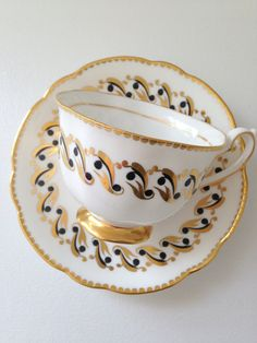 Vintage Grosvenor Bone China England Tea Cup and Saucer Thank You or Housewarming Gift Inspiration