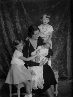 Queen Astrid of the Belgians and her children