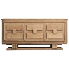 French Art Deco Credenza in Cerused Oak | From a unique collection of antique and modern credenzas at https://www.1stdibs.com/furniture/storage-case-pieces/credenzas/
