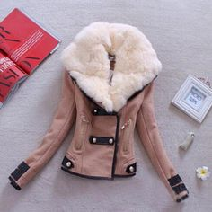New arrival wool winter coat good quality short winter coat with fur double-breasted thickening women jackets and coats Q494 alishoppbrasil