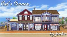 Cat's CornerBuilt where Catarina Lynx's house was in Brindleton Bay, Cat's Corner is the place for coffee, croissants, book-shopping, surfing the internet, grabbing an ice cream cone, and conversing...