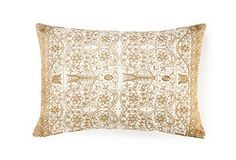 One Kings Lane - Foreign Exchange - Pushkar 14x20 Embroidered Pillow, Gold