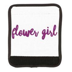 #Flower Girl Luggage Handle Wrap - #GroomGifts #Groom #Gifts Groom Gifts #Wedding #Groomideas